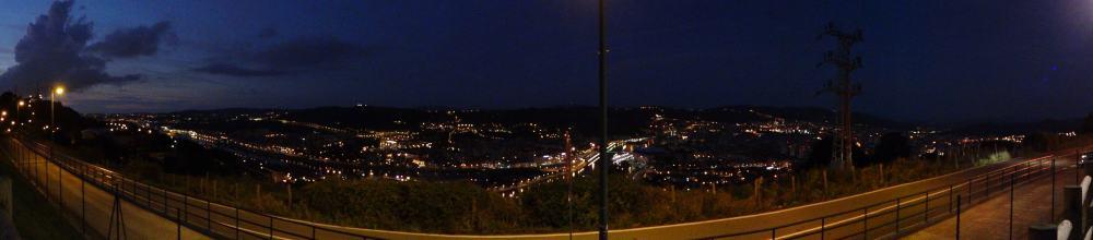 Bilbao by night - panora vanuit MH