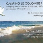 BusinessCard-Camping-LeColombier-Cagnes-sur-Mer