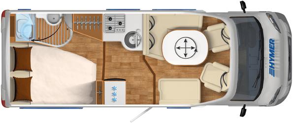 Tramp 554 CL vloerplan